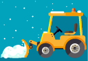 illustration of a snow plow