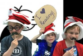 photo of students at literacy night