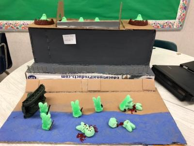 photo of student made peeps in history project