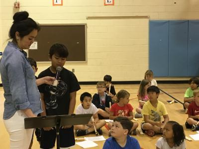 photo of students playing the recorder