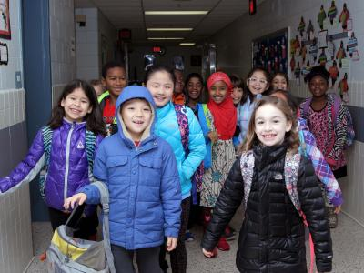 Photo of students at Olde Creek